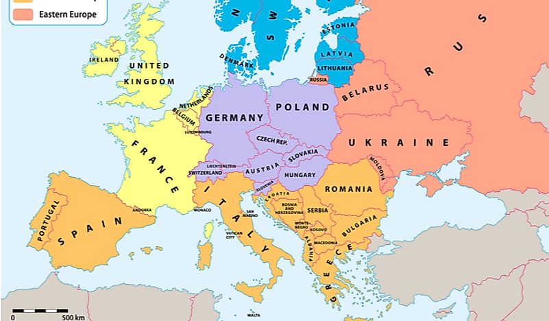 The Largest Countries in Southern Europe By Area ...