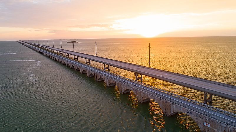 The bridge leading to the Florida Keys.