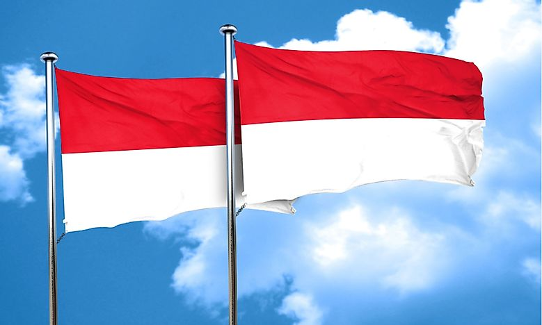 The flags of Indonesia and Monaco are almost indistinguishable.