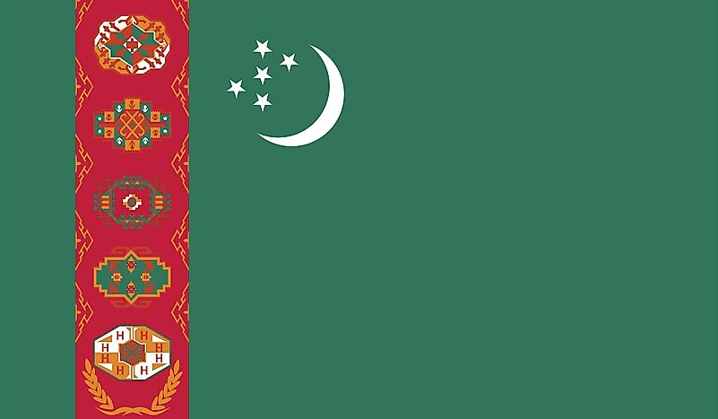 What Do the Colors and Symbols of the Flag of Turkmenistan Mean?