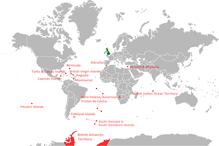 British Overseas Territories By Area