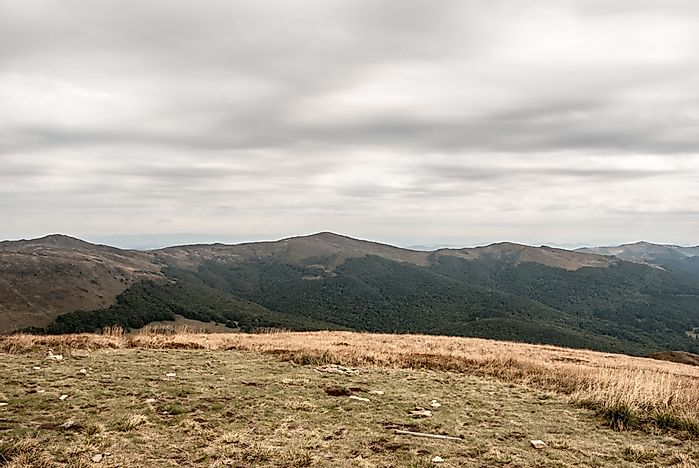 The Bieszczady Mountains in the extreme southeast of Poland.