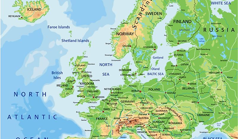 Map Of England Europe.Is England Part Of Europe Worldatlas Com