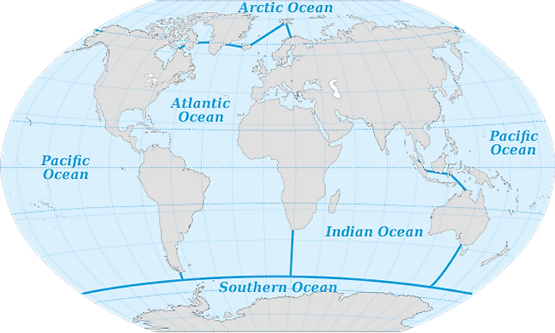 Oceans Of The World WorldAtlascom