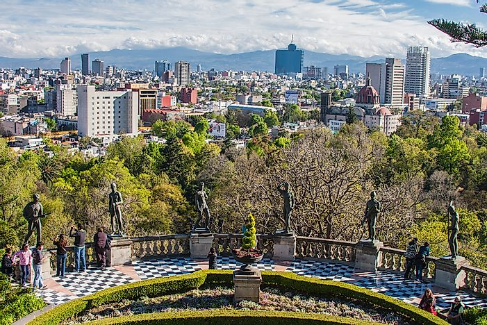 A view of Mexico City, Mexico.