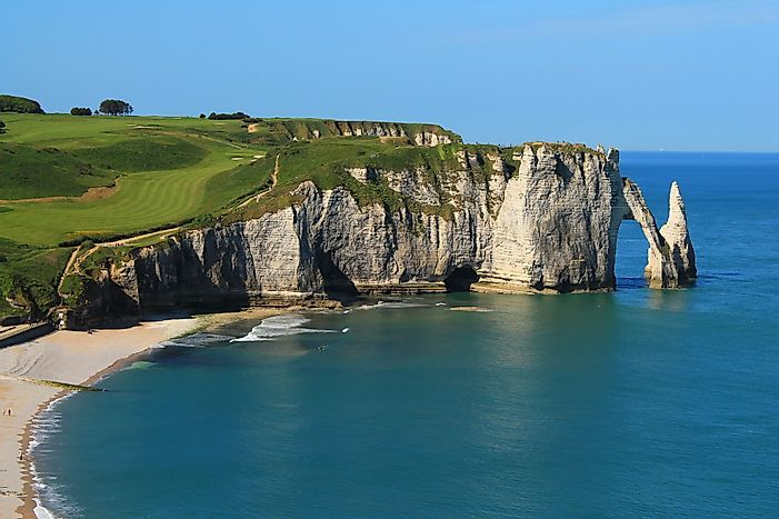 Sea Cliffs of Étretat, France - Unique Places around the World