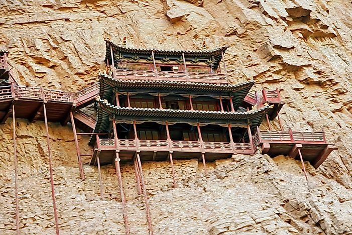 A monestary at Héng Shān, Shanxi.