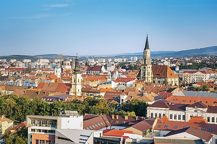 Panorama of Cluj, Romania.