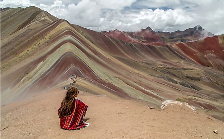 Rainbow mountains near Cuzco, Peru