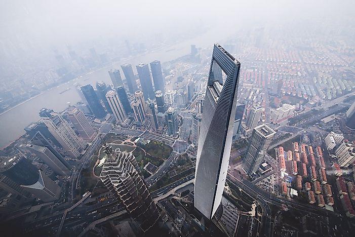 # 9 Shanghai World Financial Center, Κίνα - 1614 πόδια