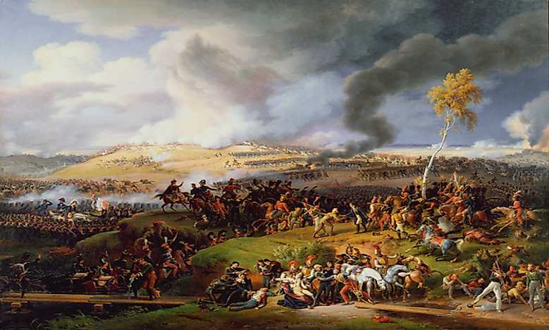Major Battles Of The Napoleonic Wars - WorldAtlas.com on timeline of napoleon's battles, map of grant's battles, map of world war 1 battles, map of civil war battles, map of alexander's battles, map of napoleon bonaparte battles, map of george washington's battles, map of mexican war battles, map of texas battles,