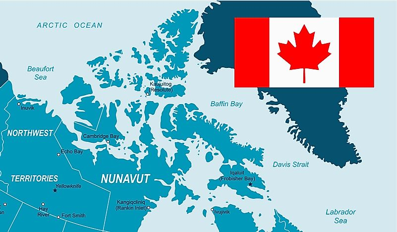 Map Of Canada Davis Strait.Where Is The Canadian Arctic Archipelago Worldatlas Com