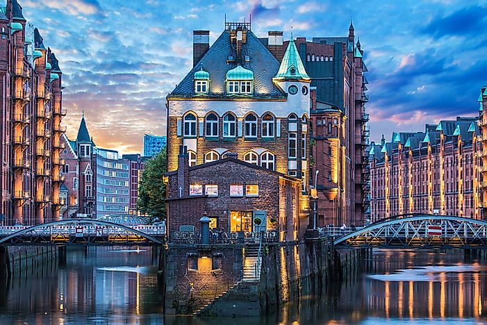 Hamburg, the second largest city in Germany.