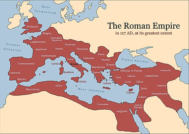 Height Of The Roman Empire Map.5 Important Cities Of The Roman Empire Worldatlas Com