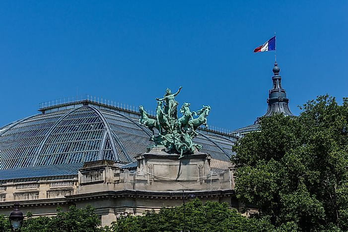The Grand Palais des Champs-Elysees was built for the 1900 Exposition Universelle.
