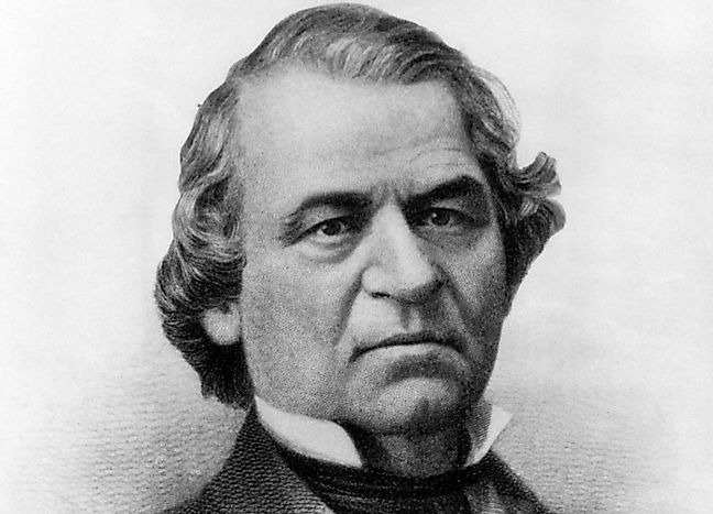 Andrew Johnson Us Presidents In History Worldatlas Com