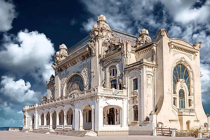 The famous Constanta Casino in Constanta, Romania.