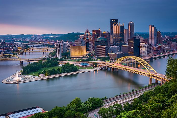 The beautiful skyline of Pittsburgh.