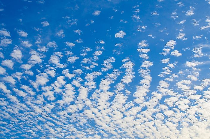 Altocumulus clouds.