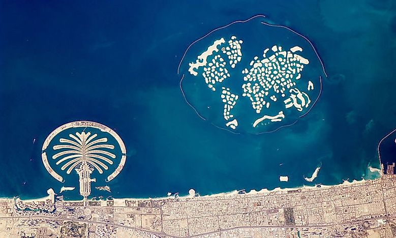 Man-Made Islands In Dubai - WorldAtlas.com