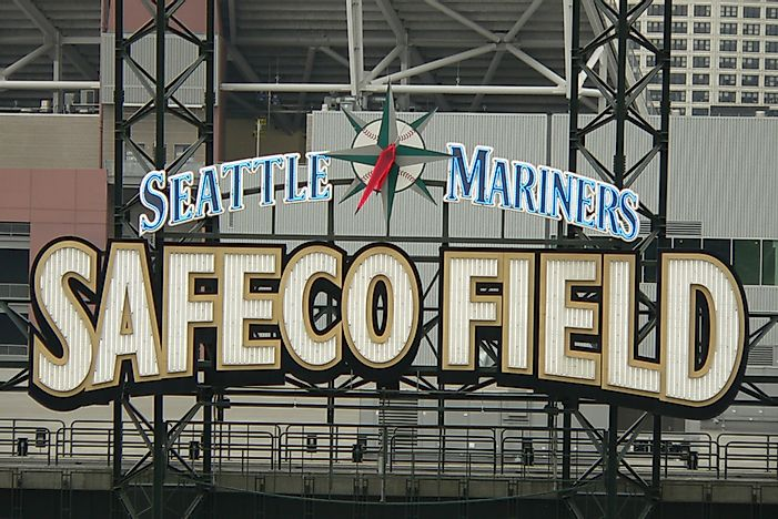 Safeco Field is the home park of the Seattle Mariners. Editorial credit: Eugene Buchko / Shutterstock.com