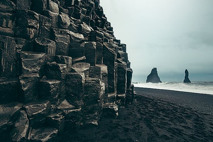 The beach at Vik, Iceland.