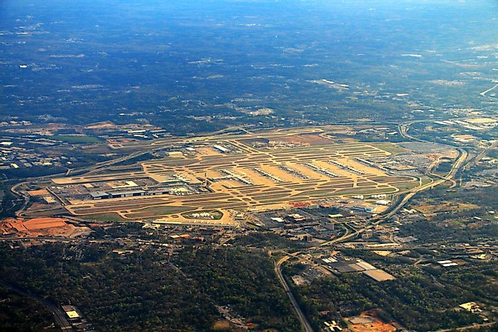 #1 Hartsfield-Jackson Atlanta International Airport - 96.2 Million Passengers - The Busiest Airport in the World