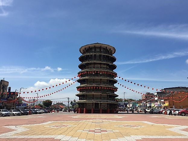 The Leaning Tower of Teluk, Malaysia.