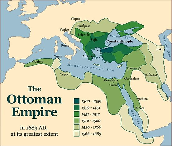 Map Of The Ottoman Empire Why Did the Ottoman Empire Fall?   WorldAtlas.com