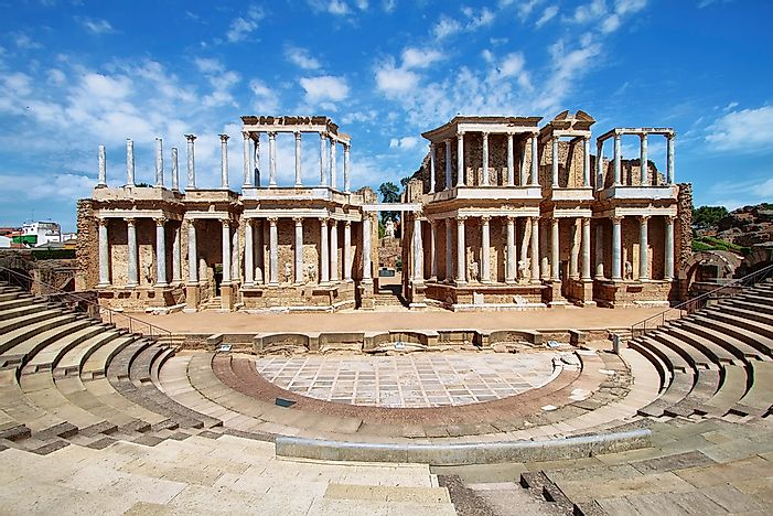 The Roman Theatre, Merida.