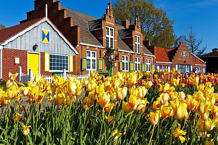 The Windmill Island Village in Holland, Michigan.