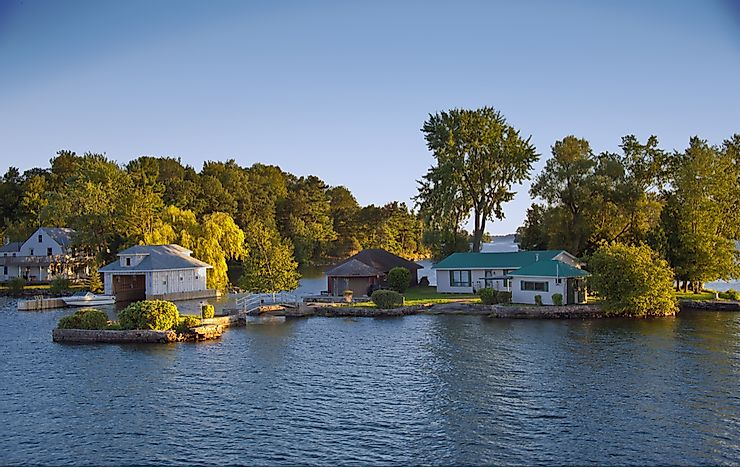 Cottages on the Thousand Islands, Ontario.
