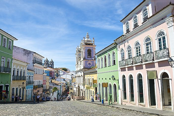 Buildings in Salvador de Bahia, Brazil.