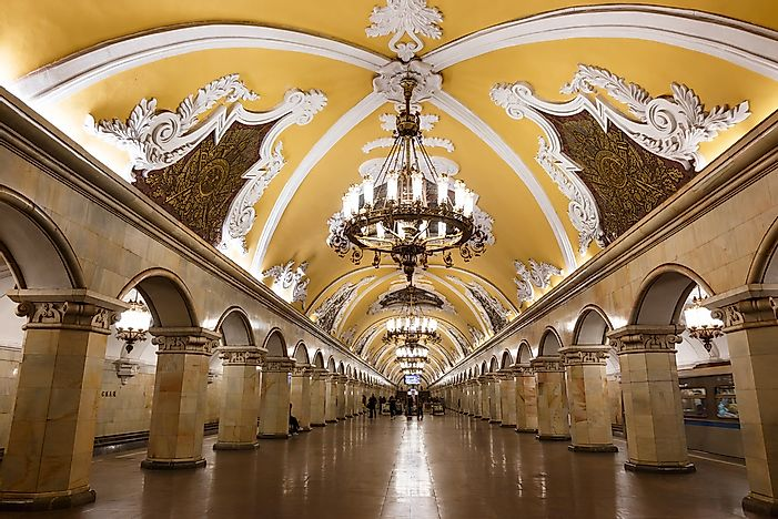 Moscow's Beautiful Metro System