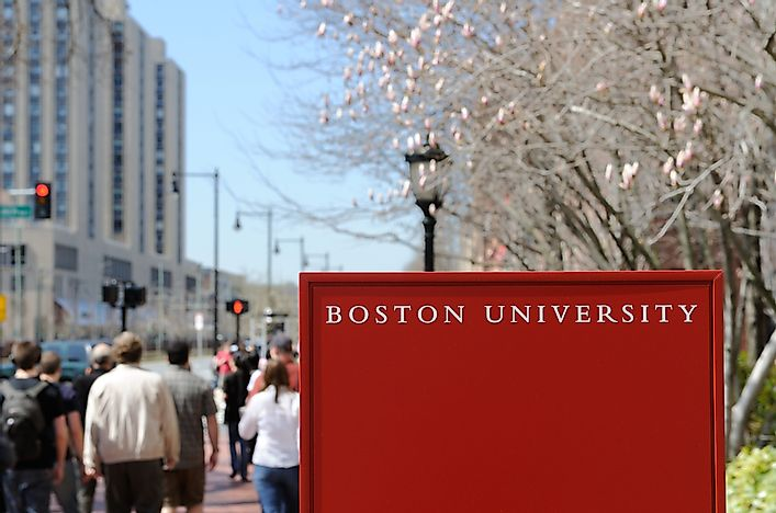 Boston University, one of the institutions found in Boston.