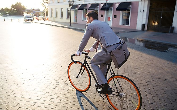 Biking to work is not only fun and good for you, but also good for the planet.