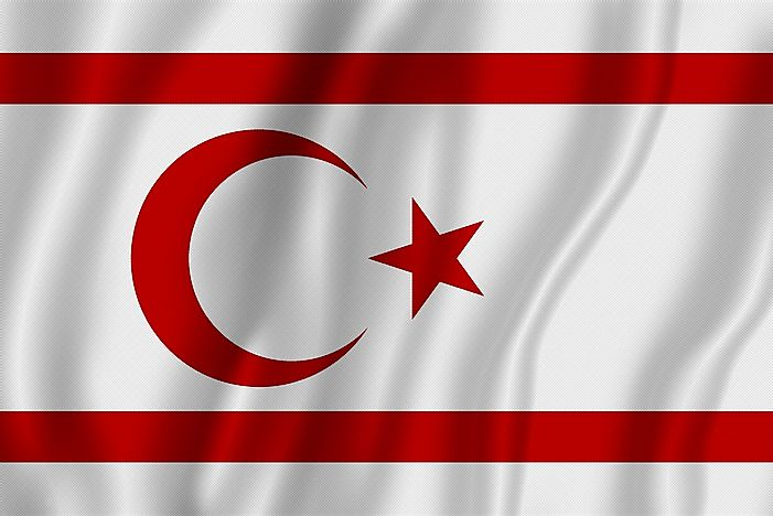 Flag of Northern Cyprus (Turkish Republic of Northern Cyprus).