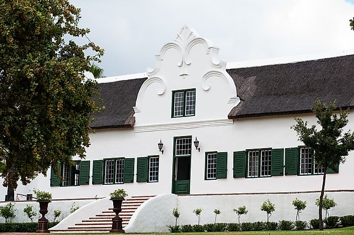A typical Cape Dutch house.