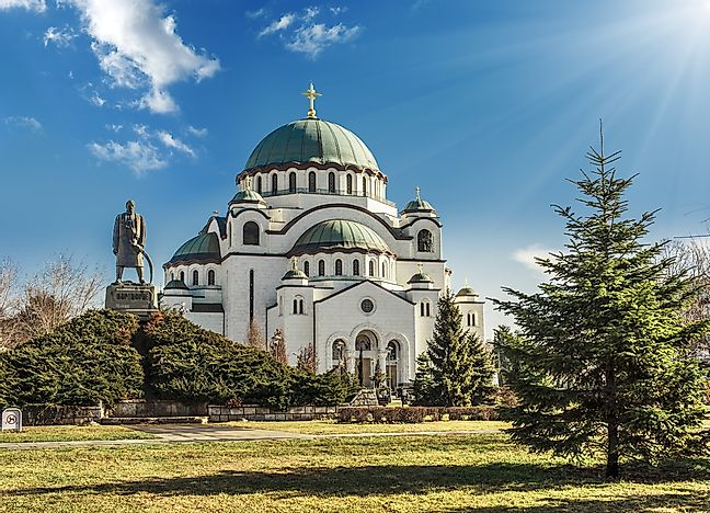The Church of Saint Sava has the form of a Greek Cross.