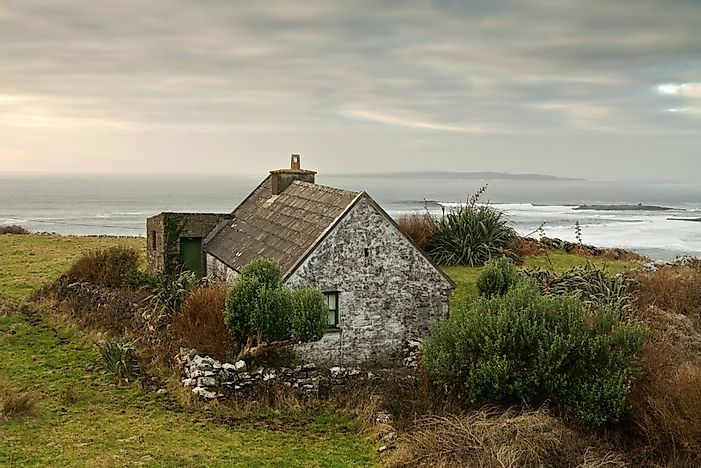 An Irish cottage house.