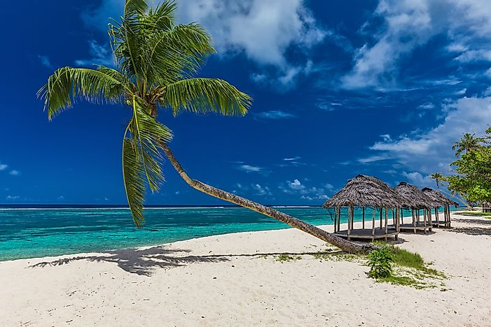 A breathtaking beach in Samoa.