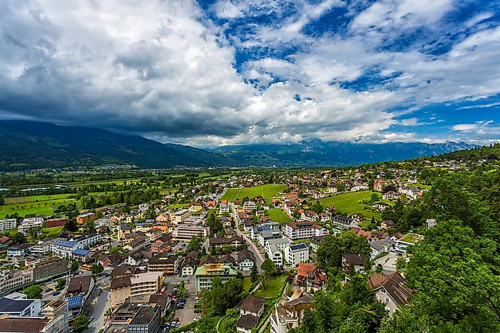 Vaduz, the capital of Liechtenstein.