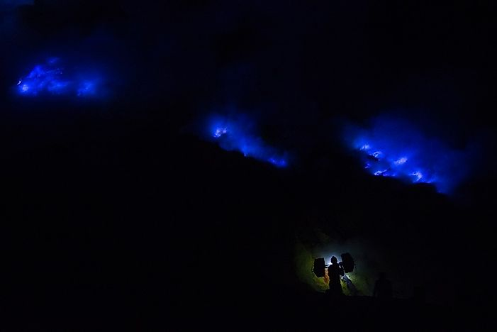 The Electric Blue Flames Of Ijen Volcano