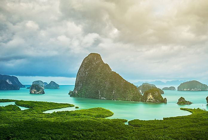Islands in Phang Nga Bay, Thailand.