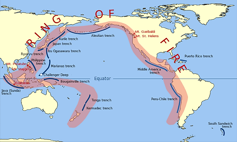 "#3 The Circum-Pacific Seismic Belt Or The ""Ring Of Fire. -"