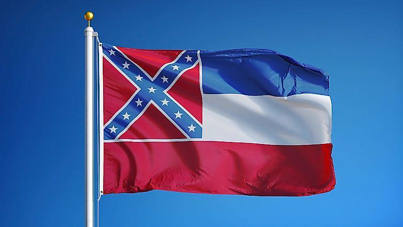 Mississippi State Flag - WorldAtlas.com  Mississippi Sta...