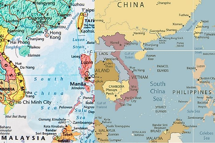 South china sea territorial conflicts and disputes worldatlas south china sea territorial conflicts and disputes gumiabroncs Choice Image