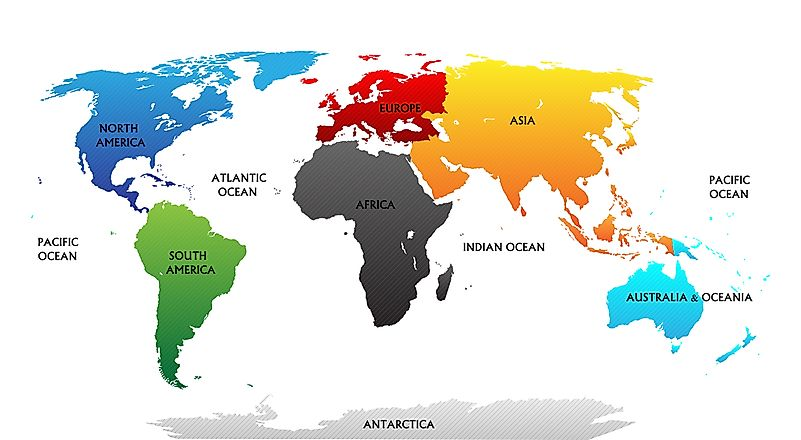 Continents of the World - WorldAtlas.com on