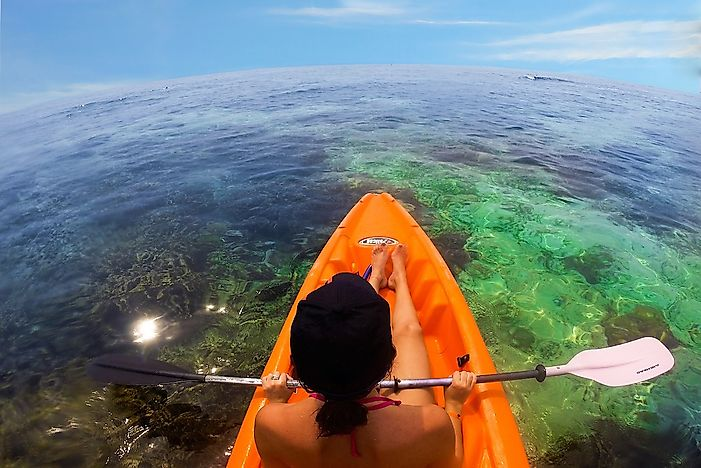 Kayaking is an affordable activity in Honduras.