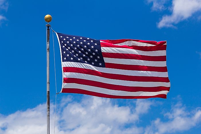 American Flag: the Flag of the United States of America